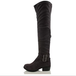 Breckelle's Faux Suede Over The Knee Boot
